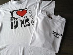 bedrukken van t-shirt