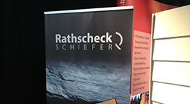 Roll-up display voor Rathscheck