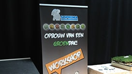 Roll-up display voor Soprema