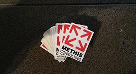Transparante vinyl sticker voor Methis Consulting