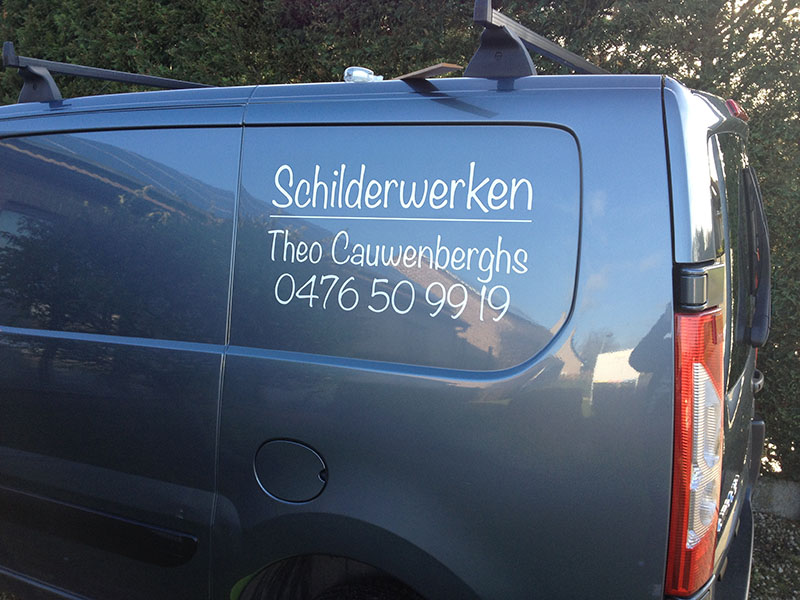 belettering camionette