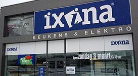 Raambelettering voor Ixina Genk