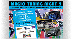 A5 Flyer voor tuning club
