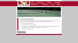 Website tennisclub De Zavel