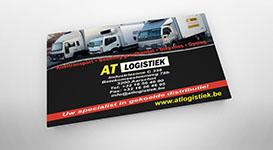 Flyer voor transportbedrijf te Aarschot