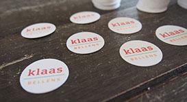 Ronde stickers met naam voor geboorte