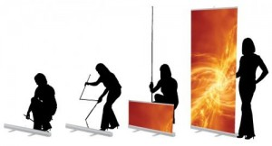 roll-up display gebruiken